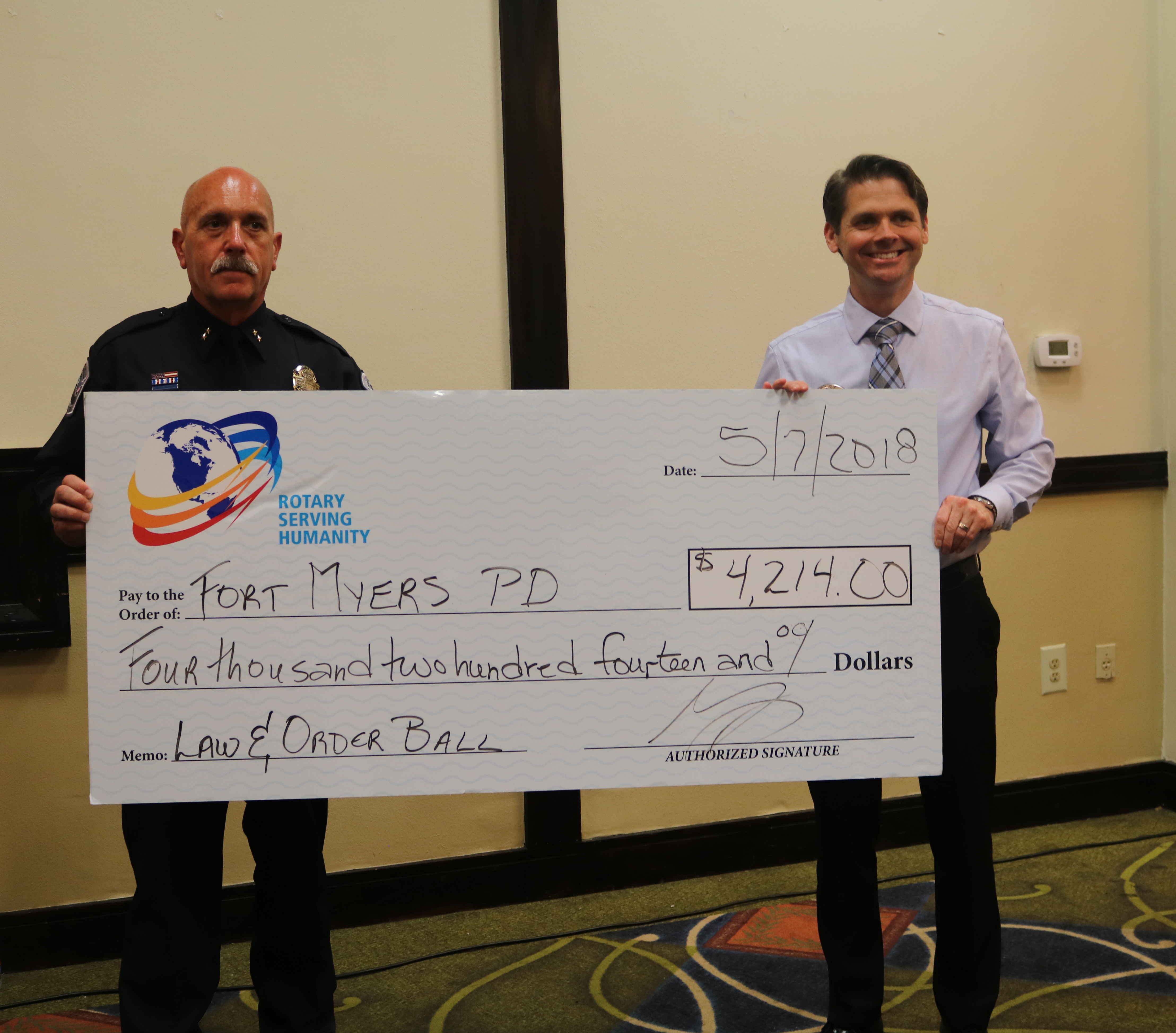 Rotary Club Of Fort Myers South Donates 29498 To Fund Youth Law